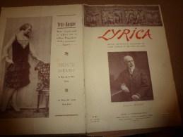 1929 LYRICA : P�dagogie de la voix; Inauguration du Palais de la M�diterran�e � Nice ; Bouffes-Parisiens....etc