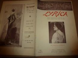 1929 LYRICA : Roland Dorgel�s; L'enseignement du chant en Italis ; Op�ra (Guillaume-Tell) ...etc