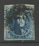 Belgique - Médaillon N°7 -.margé - P79 Marche - Lettres L Et I Partielles En Filigrane - Retouche Légère Feuillage Inf.g - 1851-1857 Medallions (6/8)