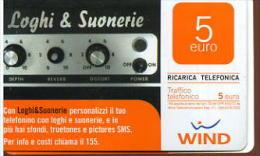 X WIND RICARICA Télécarte Phonecard Telefonkart TEMATICA MUSICA - Musica