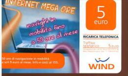 X WIND RICARICA Télécarte Phonecard Telefonkart TEMATICA PC INFORMATICA - Schede Telefoniche