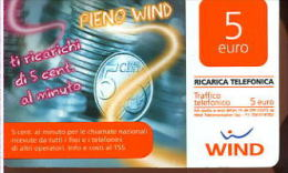 X WIND RICARICA Télécarte Phonecard Telefonkart TEMATICA MONETE - Francobolli & Monete
