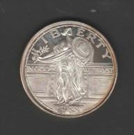 O) 1988 UNITED STATES, PROOF, SILVER COIN, PLATA 1 ONZA, LIBERTY-AMERICAN EAGLE, E. - United States