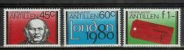 Mkg0659 SIR ROWLAND HILL LONDON 1980 STAMP EXHIBITION NEDERLANDSE ANTILLEN 1980 PF/MNH  VANAF1EURO