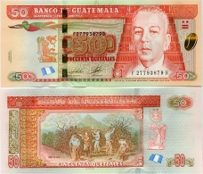 GUATEMALA       50 Quetzales       P-New       2.5.2012       UNC    [Joh. Enschedé] - Guatemala