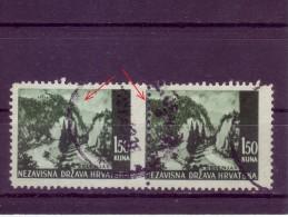 LANDSCAPES-ZELENJAK-1-50 K-PAIR-ERROR-LINE-PERFORATION-NDH-CROATIA-1941 - Croatia