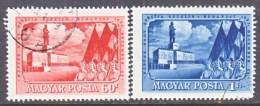 HUNGARY  982-3    (o)   STALIN  FLAGS - Hungary