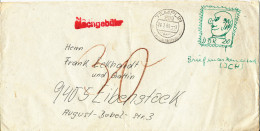 Germany DDR FUNNY COVER Templin 24-7-1969 underpaid no stamp but a drawing showing a stamp postal due 30 pf.