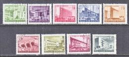 HUNGARY  1004-11    (o)   BUILDINGS   1952  ISSUE - Hungary