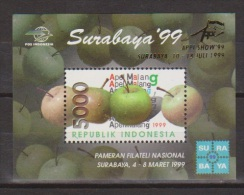 Indonesia Indonesie Blok Sheet Nr.1968 (B161) MNH ; Appel, Apple, Pomme, Apfel, Manzana - Fruits