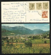 Italy 1968 Air Mail Postal Used Panorama  Picture Postcard With Stamps - Italy