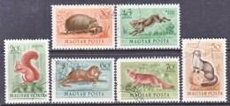 HUNGARY  C 111-16   (o)   FAUNA  WILD  ANIMALS - Airmail