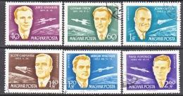 HUNGARY  C 221-6    (o)   SPACE - Airmail