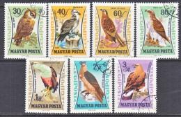 HUNGARY  C 228-34    (o)   FAUNA  BIRDS  OF  PREY - Airmail