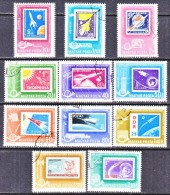 HUNGARY  C 236+    (o)   STAMPS  ON  STAMPS   SPACE - Airmail
