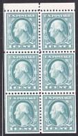 U.S.  498 E  Perf  11  Flat Press  *  No Wmk. - Booklets
