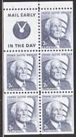 U.S.  1280 A  BK.  PANE   **  SHINY  GUM    SLOGAN 4 - Booklets