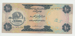 UNITED ARAB EMIRATES 10 DIRHAMS 1973 VF PICK 3 - Emirats Arabes Unis