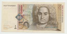 Germany 50 Mark 1996 VF++ Pick 45 - 50 Deutsche Mark