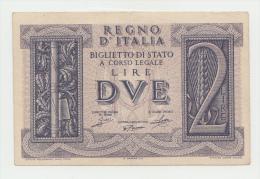 Italy 2 Lire 1939 VF WWII P 27 - Italia – 2 Lire
