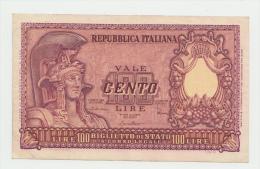 ITALY 100 Lire 1951 VF++ P 92b 92 B - [ 2] 1946-… : Republiek