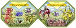 slm14415ab Solomon Is. 2014 Orchids 2 s/s Aroma
