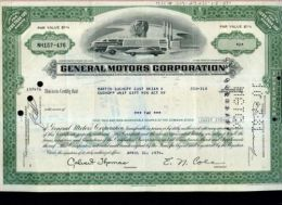 X CERTIFICATO AZIONARIO GENERAL MOTORS CORPORATION 1974 - Automobilismo