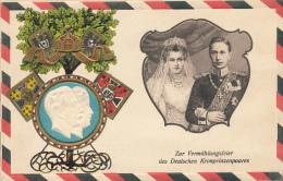 BERLIN - 1905 , Wilhelm III. + Cecilie von Mecklenburg-Schwerin - Pr�gekarte