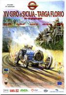 X XV GIRO DI SICILIA - TARGA FLORIO VCC NON VIAGGIATA DISEGNO FERREYRA BUGATTI - Motorsport