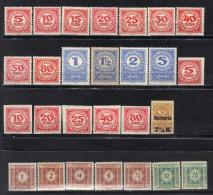 Autriche Timbres Taxe N° 75-86, 89, 93, 94, 96, 97, 99, 101, 102-107, 109 * à Moins De 20% De La Cote - Portomarken