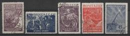 (O) Russia - USSR (1942/43) Yv. 866/70 - Oblitérés