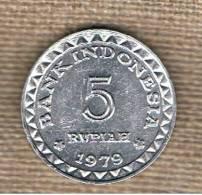 INDONESIA -  5 Rupias 1979  KM43 - Indonesia