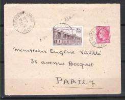 FRANCE 780 Sur Lettre 22/05/1947 - France