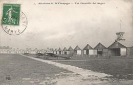 CPA Aérodrome De La Champagne - Vue D'ensemble Des Hangars - Aerodrome