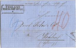 Muster Ohne Wert - Koblenz Nach Wohlen (Schweiz) 1865  - Selten ! - Preussen
