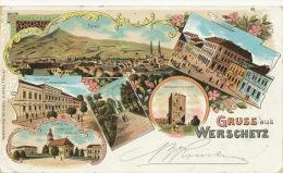 Gruss Aus Werschetz Vrsac Used Versecz 1899 Litho Eduard Schmidt Serbian Church - Serbie