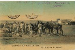 Campana De Melilla 1909 68 Artilleria De Montana Marruecos Morocco Maroc Edit Boumendil Sidi Bel Abbes - Melilla