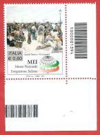 ITALIA REPUBBLICA SINGOLO INF DX BARRE - 2011 - Museo Nazionale Dell´emigrazione Italiana - € 0,60 - S. 3236 - Bar Codes