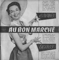 """Catalogue """"Au Bon Marché"""" 1954 32 Pages Bon Etat - France"""