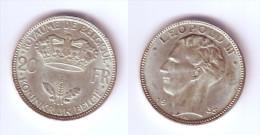 Belgium 20 Francs 1935 Position A - 1934-1945: Leopold III