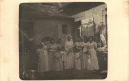 81617 - Carte Photo    Mari�e et ses Demoiselles d'Honneur