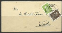 Estland Estonia 1940 Cover O TUDU !! - Estonie