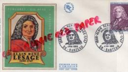 56 - SARZEAU - ALAIN RENE LESAGE - 1968 - FDC