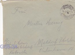 Feldpost WW2: From A Leutenant Currently At A Hotel Eisendorff In Kattowitz P/m Katowice 14.6.1942 - Cover Only (G68-24) - Militaria