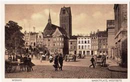 Cards P76 Postcard Pre-war Germany Wismar Marktplatz - Ansichtskarten