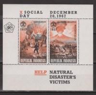 Indonesia Indonesie blok sheet 599 MNH (B9) ; Vulkaan, vulcano, volcan