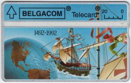 BELGIUM A-643 Hologram Belgacom - Discoverer, Christoph Columbus - 267F - used