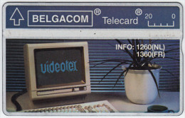 BELGIUM A-650 Hologram Belgacom - Communication, Videotext - 211B - used
