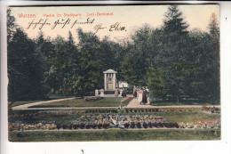 0-7250 WURZEN, Stadtpark, Juel-Denkmal, 1908 - Wurzen