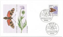 Allemagne Berlin 1984 674 FDC Insectes De La Pollinisation - Agrumenia Carniolica - Papillon - Schmetterlinge